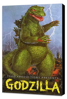 Godzilla, King of the Monsters - 11 x 17 Movie Poster - Style D - Museum Wrapped Canvas