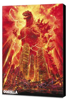 Godzilla, King of the Monsters - 27 x 40 Movie Poster - Style C - Museum Wrapped Canvas