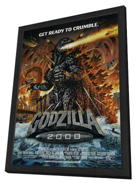 Godzilla Millenium - 11 x 17 Movie Poster - Style A - in Deluxe Wood Frame