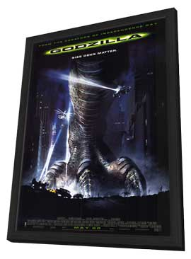 Godzilla - 27 x 40 Movie Poster - Style E - in Deluxe Wood Frame