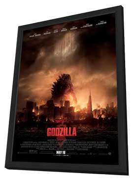 Godzilla - 27 x 40 Movie Poster - Style A - in Deluxe Wood Frame