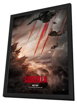 Godzilla - 11 x 17 Movie Poster - Style B - in Deluxe Wood Frame