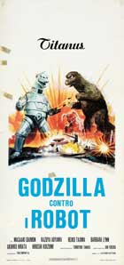 Godzilla vs. Bionic Monster - 13 x 28 Movie Poster - Italian Style A