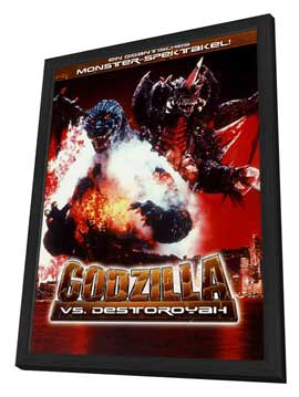 Godzilla vs. Destroyer - 11 x 17 Movie Poster - German Style A - in Deluxe Wood Frame