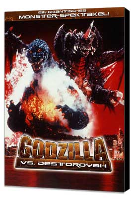 Godzilla vs. Destroyer - 11 x 17 Movie Poster - German Style A - Museum Wrapped Canvas