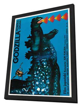 Godzilla vs. Gigan - 11 x 17 Movie Poster - Polish Style A - in Deluxe Wood Frame