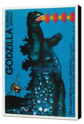 Godzilla vs. Gigan - 27 x 40 Movie Poster - Polish Style A - Museum Wrapped Canvas