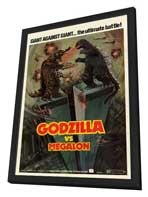 Godzilla vs. Megalon - 27 x 40 Movie Poster - Style A - in Deluxe Wood Frame