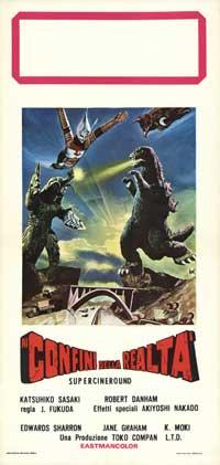 Godzilla vs. Megalon - 13 x 28 Movie Poster - Italian Style A
