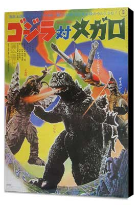 Godzilla vs. Megalon - 11 x 17 Movie Poster - Japanese Style A - Museum Wrapped Canvas