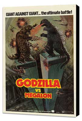 Godzilla vs. Megalon - 27 x 40 Movie Poster - Style A - Museum Wrapped Canvas