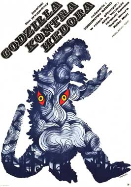 Godzilla vs. Smog Monster - 11 x 17 Movie Poster - Polish Style A