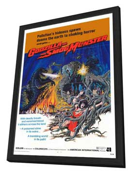 Godzilla vs. Smog Monster - 11 x 17 Movie Poster - Style A - in Deluxe Wood Frame