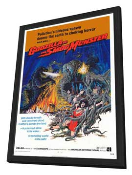 Godzilla vs. Smog Monster - 27 x 40 Movie Poster - Style A - in Deluxe Wood Frame