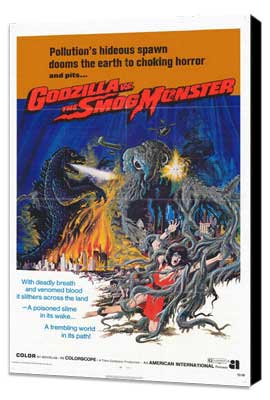Godzilla vs. Smog Monster - 11 x 17 Movie Poster - Style A - Museum Wrapped Canvas