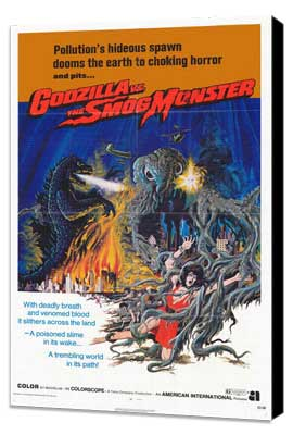 Godzilla vs. Smog Monster - 27 x 40 Movie Poster - Style A - Museum Wrapped Canvas