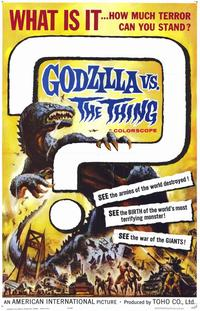 Godzilla vs The Thing - 11 x 17 Movie Poster - Style A