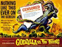 Godzilla vs The Thing - 11 x 14 Movie Poster - Style A