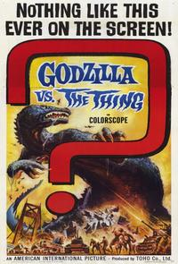 Godzilla vs The Thing - 11 x 17 Movie Poster - Style B