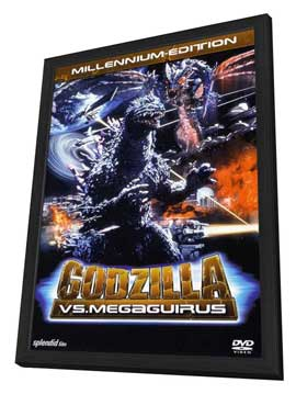 Godzilla X Megaguirus: The G Extermination Command - 11 x 17 Movie Poster - German Style A - in Deluxe Wood Frame