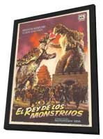 Godzilla's Counter Attack - 11 x 17 Movie Poster - Spanish Style A - in Deluxe Wood Frame
