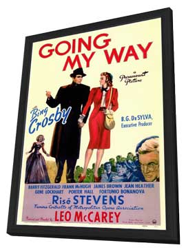 Going My Way - 11 x 17 Movie Poster - Style A - in Deluxe Wood Frame