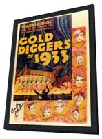 Gold Diggers of 1933 - 11 x 17 Movie Poster - Style A - in Deluxe Wood Frame