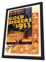 Gold Diggers of 1933 - 27 x 40 Movie Poster - Style A - in Deluxe Wood Frame