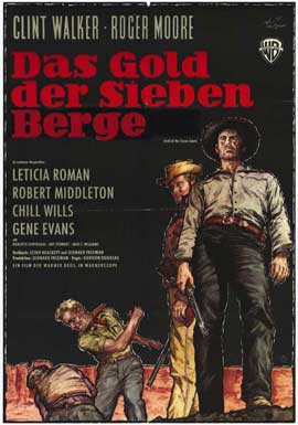 Gold of the Seven Saints - 11 x 17 Movie Poster - German Style A