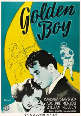 Golden Boy - 11 x 17 Movie Poster - Swedish Style A