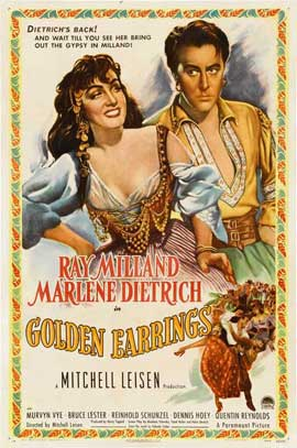 Golden Earrings - 11 x 17 Movie Poster - Style A