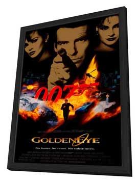 Goldeneye - 27 x 40 Movie Poster - Style A - in Deluxe Wood Frame