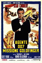Goldfinger - 27 x 40 Movie Poster - Italian Style A