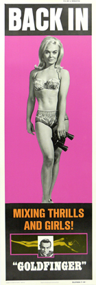 Goldfinger - 14 x 36 Movie Poster - Insert Style B