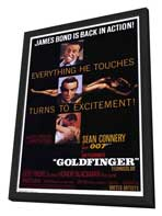 Goldfinger - 11 x 17 Movie Poster - Style A - in Deluxe Wood Frame