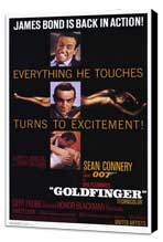 Goldfinger - 11 x 17 Movie Poster - Style A - Museum Wrapped Canvas