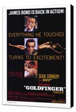 Goldfinger - 27 x 40 Movie Poster - Style A - Museum Wrapped Canvas