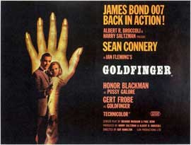 Goldfinger - 11 x 17 Movie Poster - Style E