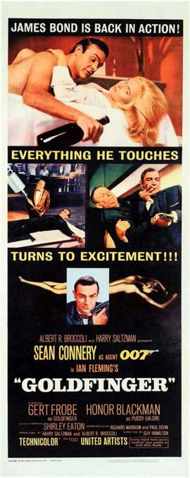 Goldfinger - 11 x 17 Movie Poster - Style D