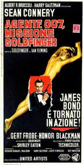 Goldfinger - 11 x 17 Movie Poster - Italian Style A