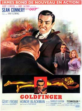 Goldfinger - 11 x 17 Movie Poster - French Style A