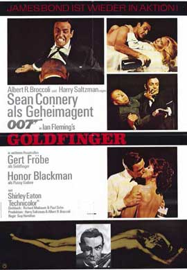 Goldfinger - 11 x 17 Movie Poster - German Style A