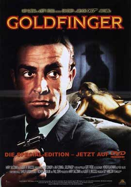 Goldfinger - 11 x 17 Movie Poster - German Style B