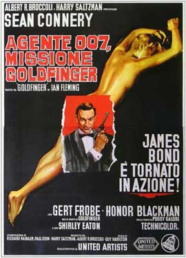 Goldfinger - 11 x 17 Movie Poster - Italian Style B