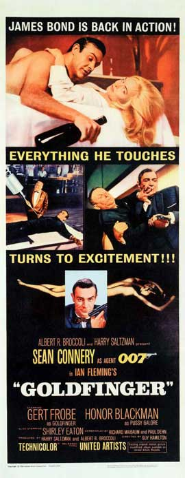 Goldfinger - 14 x 36 Movie Poster - Insert Style A
