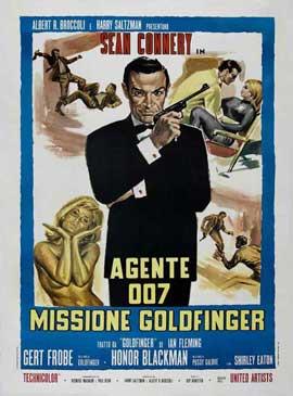 Goldfinger - 11 x 17 Movie Poster - Italian Style C