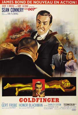 Goldfinger - 27 x 40 Movie Poster - French Style C