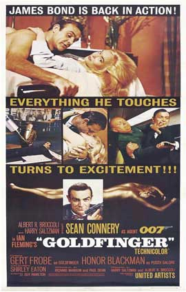 Goldfinger - 11 x 17 Movie Poster - Style J