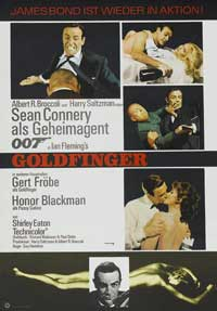 Goldfinger - 27 x 40 Movie Poster - German Style A