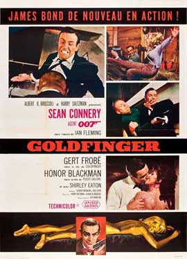 Goldfinger - 27 x 40 Movie Poster - French Style B